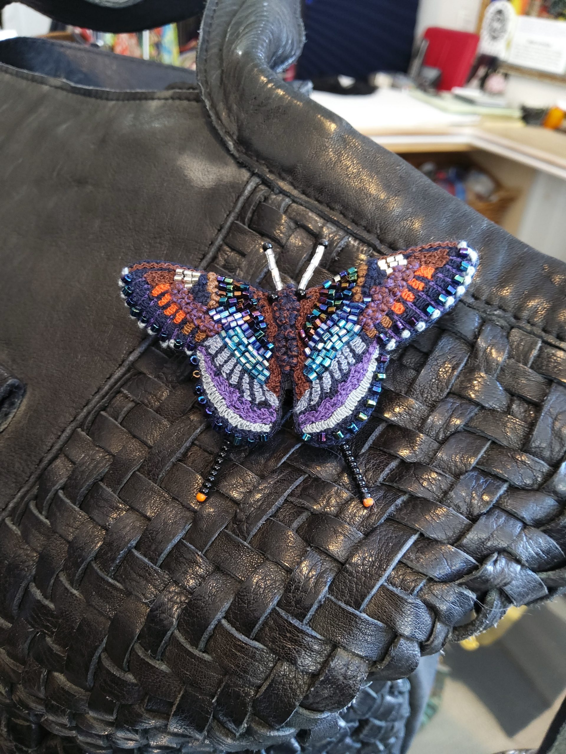 Apetura Iris Butterfly Hand Beaded Pin – Trovelore Fair Trade