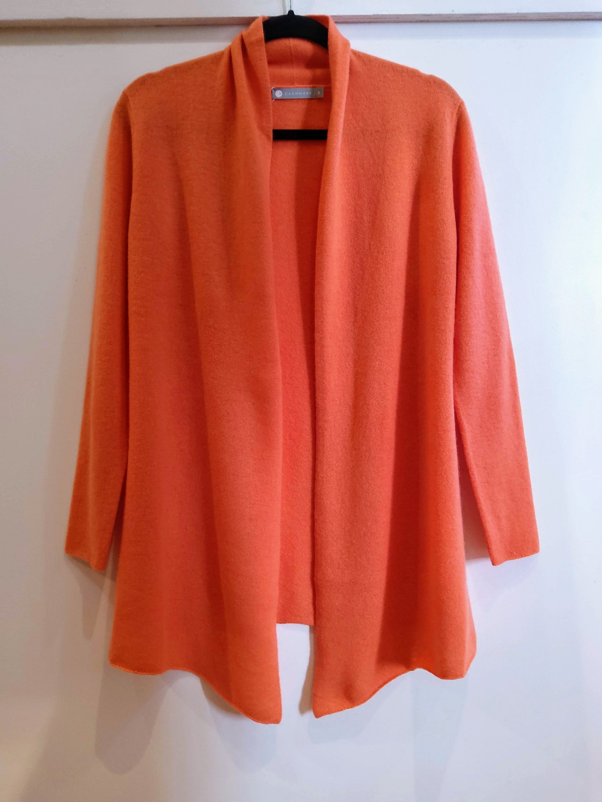 Cashmere Cardigan In Orange – Incashmere