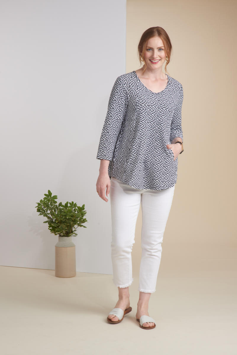 White Caps Jacquard Swing Tunic – Habitat