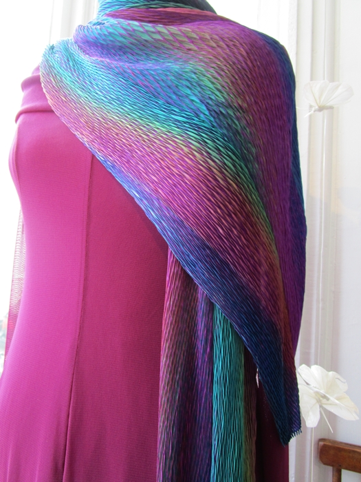 Silk Shibori Pleated Scarf – Cathayana