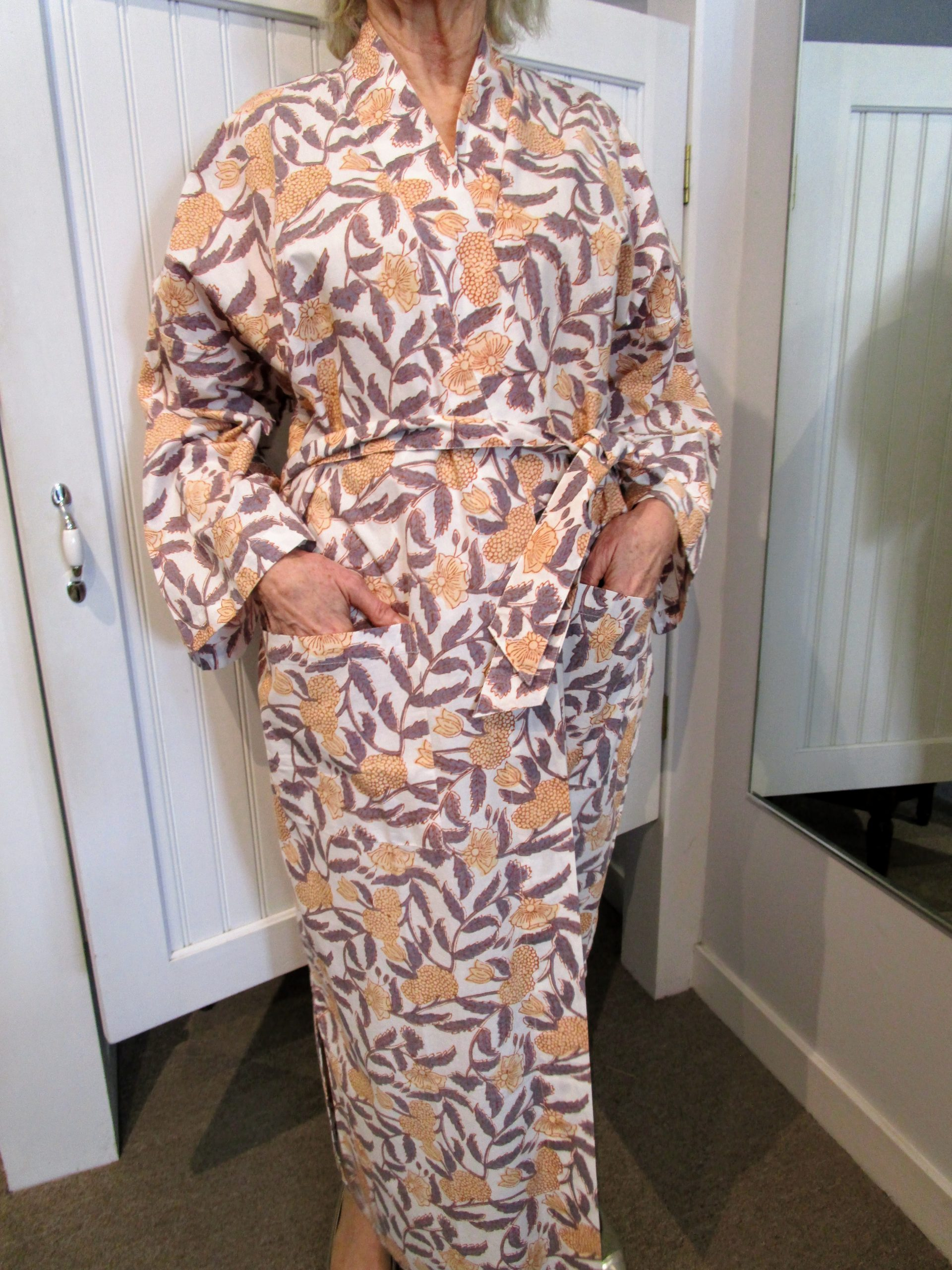 Cotton Block-printed Robe