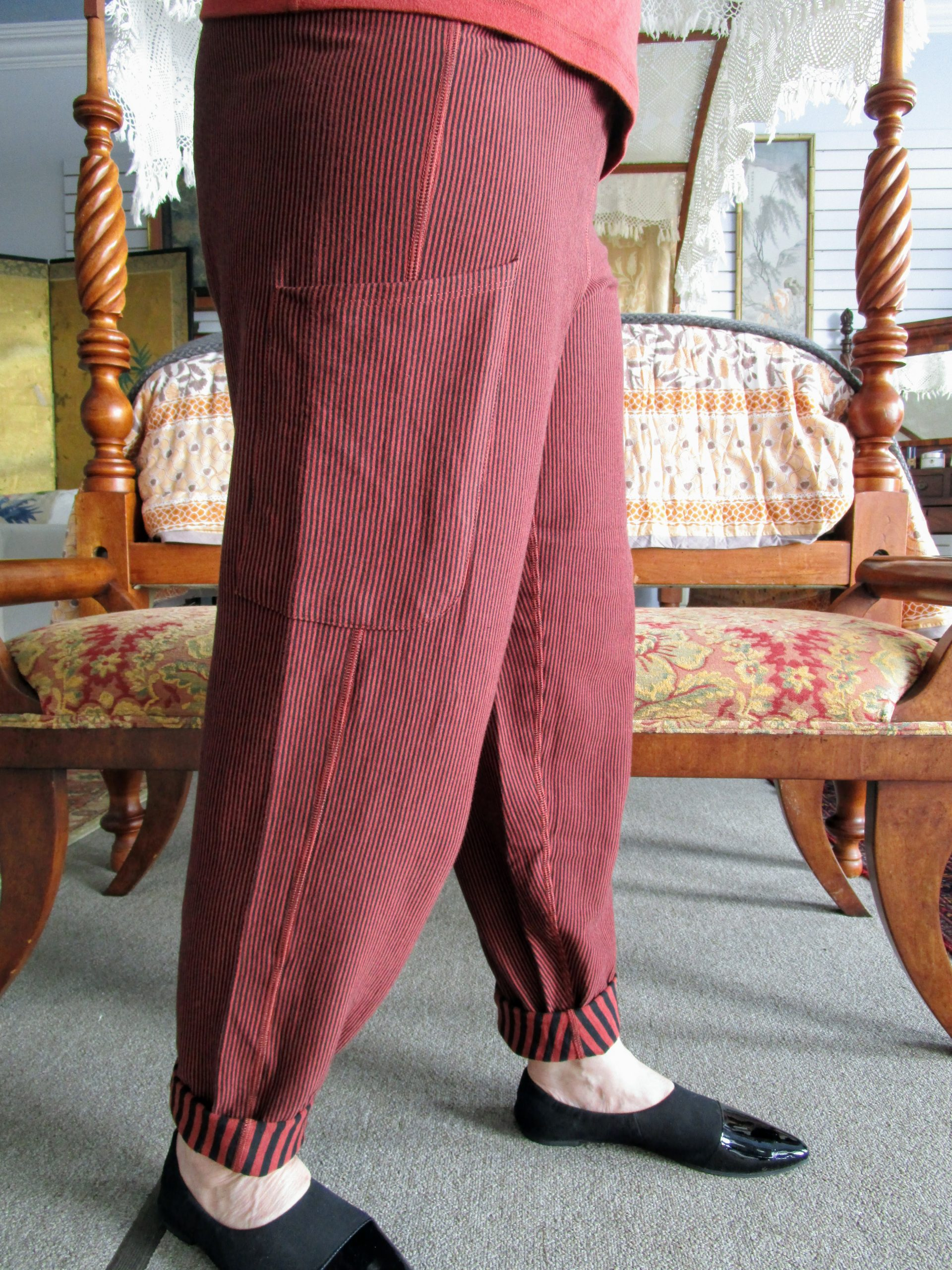 Reversible Pima Cotton Stripe Pant