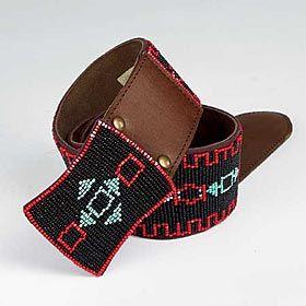 Hand-beaded Leather Belt – Tascha Polizzi