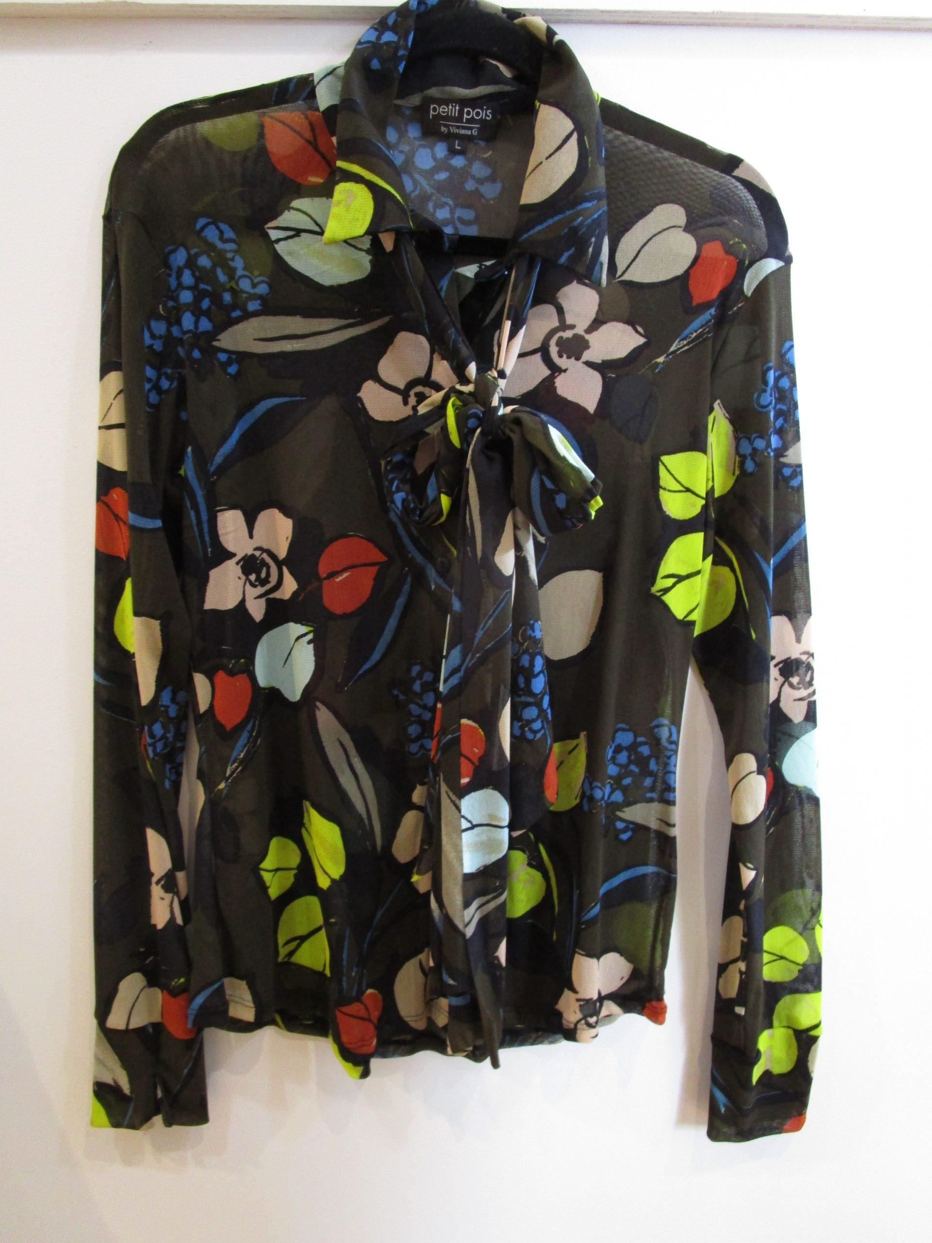 Floral Buttoned Blouse – Petit Pois