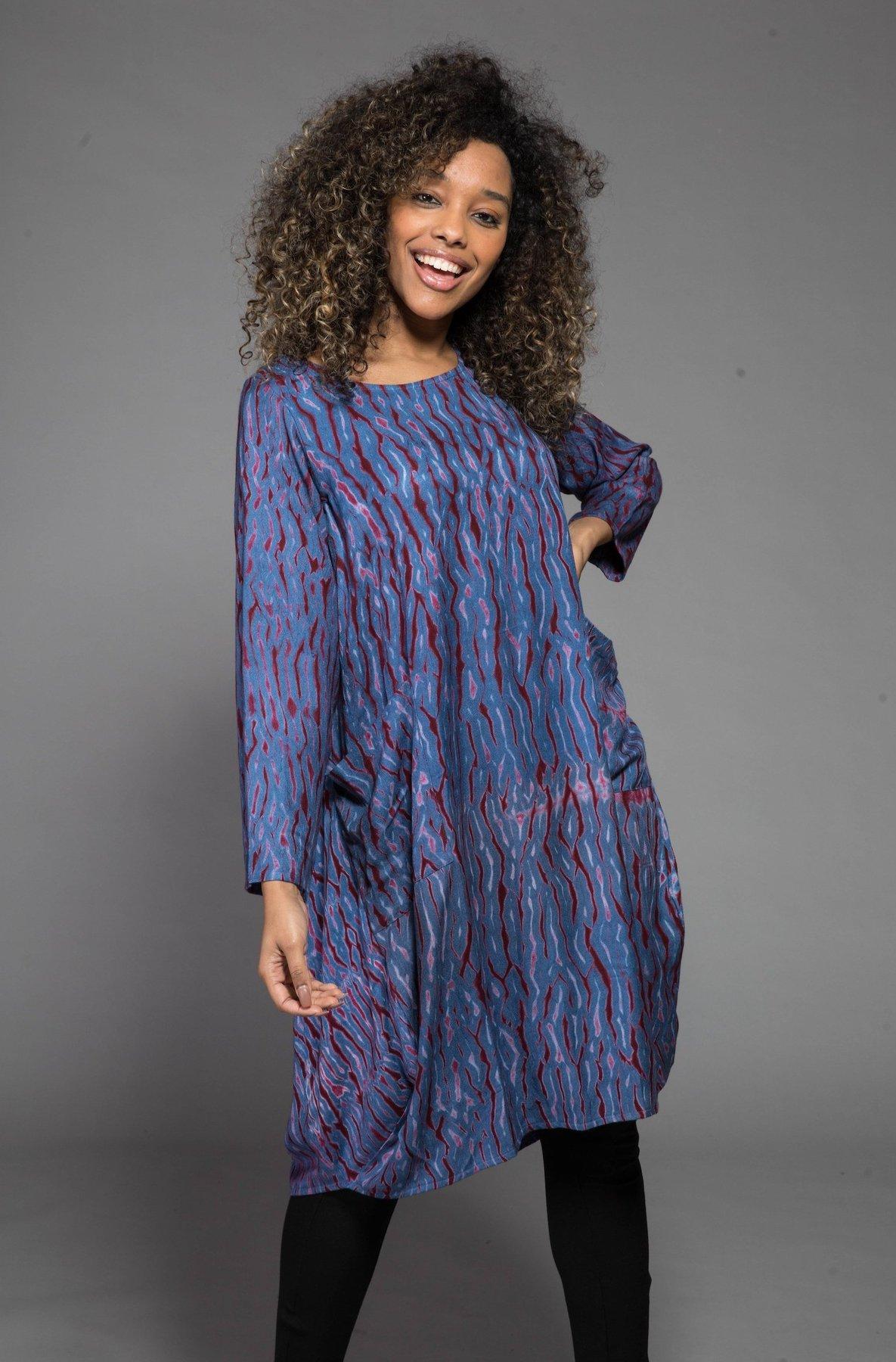 Shibori Dyed Dress Made Of Sustainable Moss Crepe – Nila Rubia