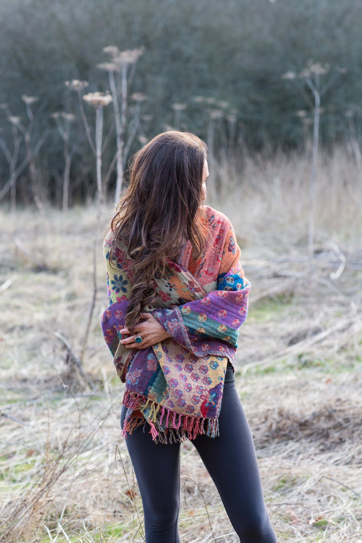 Butterfly Garden Reversible Wool Scarf – Nila Rubia
