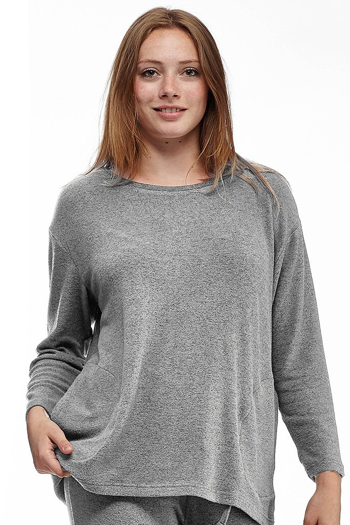 Scoop Neck Top With Side Pockets – Comfort Collection – La Cera
