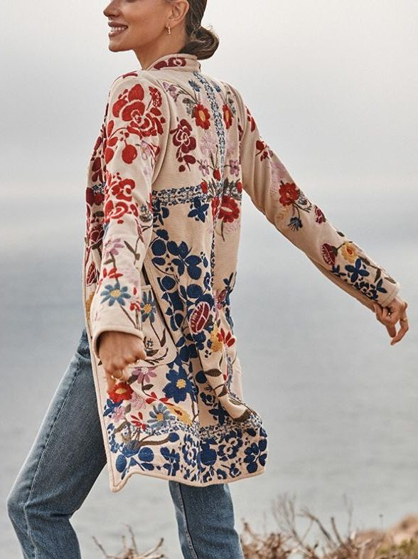 Edith Embroidered Cardigan Duster – Johnny Was
